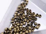 B172 Mini Metal Beads 2mm 3mm Super Tiny Metal Round Beads Tiny Beads Doll Sewing Notions Craft