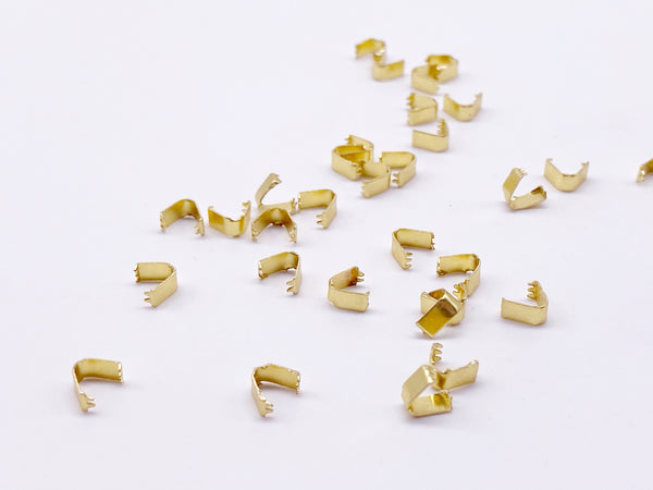 B174 Tiny 3×5 mm Doll Belt End Tips Finished Connectors Doll Clothes Making Sewing Supply