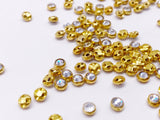 B176 Sew On Rhinestones 4mm 5mm Micro Mini Glass Faux Diamond Buttons Doll Clothes Doll Sewing Craft