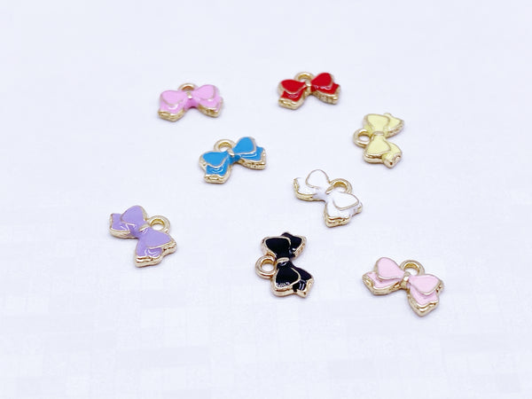 B181 Tiny Cute 8×6mm  Bow Charm For Doll Jewelry Clothes Doll Sewing Craft