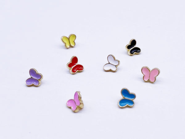 B182 Butterfly Buttons 6mm Butterfly Shank Buttons Micro Mini Buttons Tiny Buttons Doll Buttons Doll Sewing Craft Supplies