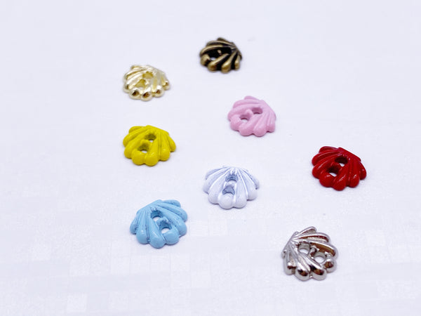 B183 Shell Shape 6×7mm  Mini Buttons Tiny Buttons Doll Clothes Sewing Craft Supply Blythe BJD Barbie