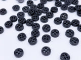 B185 Multi Colors 6mm 4 Hole Buttons Micro Mini Buttons Tiny Buttons Doll Clothes Sewing Craft Supply Blythe BJD Barbie