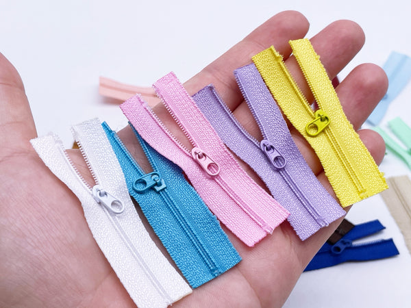 W026 Mini 6CM Zipper Tiny Super Small Zipper Doll Sewing Craft Doll Clothes Making Sewing Supply