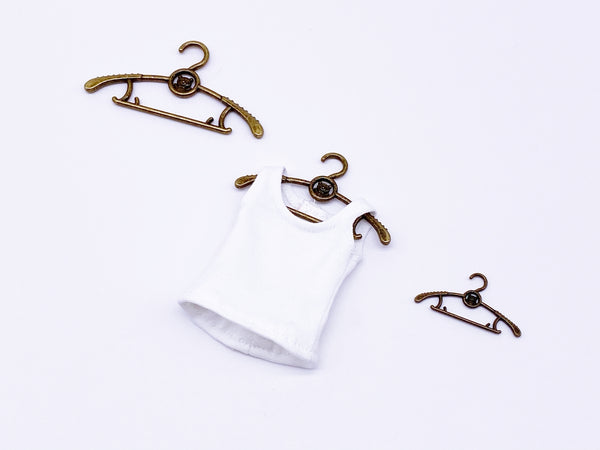 D047 Colorful Little  Bear Doll Miniature Clothes Hanger 1/6 1/12 Miniature For Blythe Barbie PP FR BJD