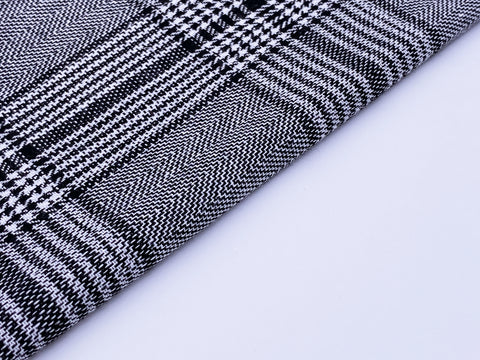 F013E 45\u00d730cm Black Houndstooth Pattern Cotton Fabric For Doll Clothes Sewing Doll Craft Sewing Supplies For Dolls Like Barbie Blythe BJD