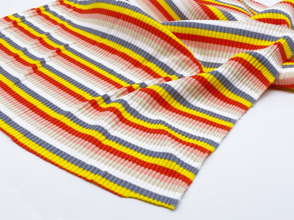 F024 Skinny Rib Knit Colorful Stripes Stretch Fabric 30×50cm For Doll Clothes Sewing Craft Sewing Supplies For Dolls Like Barbie Blythe BJD