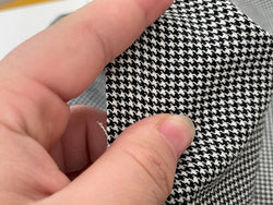 F031 Thin 40×35cm Houndstooth Pattern Cotton Fabric For Doll Clothes Sewing Doll Craft Sewing Supplies For Dolls Like Barbie Blythe BJD