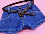 C003 Handmade Denim Shorts Doll Clothes Doll Short For Barbie Poppy Parker Blyth