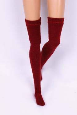 A024 Knee High Doll Socks Doll Clothes Blythe Barbie Poppy Parker FR NF Doll