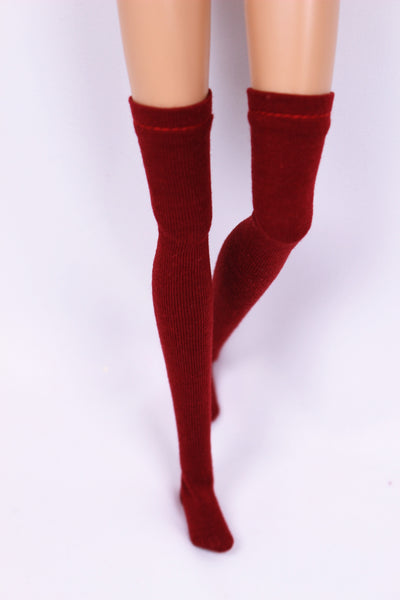 C030 Knee High Doll Socks Doll Clothes Blythe Barbie Poppy Parker FR NF Doll