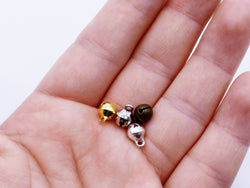 B116 Gold/Silver/Old Metal Color 6mm Bell Charm Doll Craft Jewelry Making Doll S