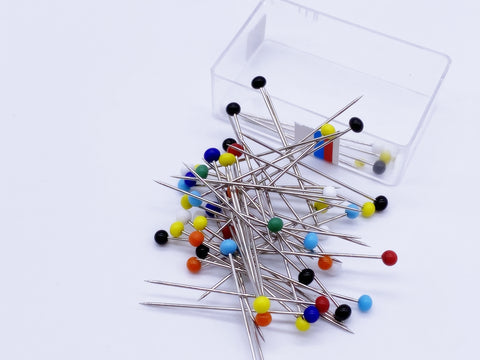 W014 Multi Color Mini 32mm, 1 1/4 inch Straight Pins Doll Sewing Notions Essenti