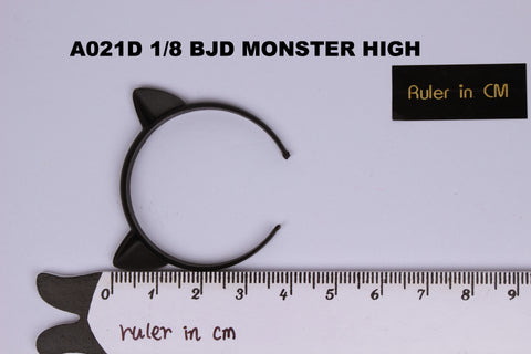 A021 Black Cat Ear Headband For Barbie Blythe BJD Monster High Doll Accessories