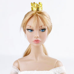 A037 Gold Mini Crown Doll Crown Hair Accessories Barbie Fashion Royalty Poppy Pa