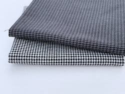 F012 45×30cm Houndstooth Pattern Cotton Fabric For Doll Clothes Sewing Doll Craf