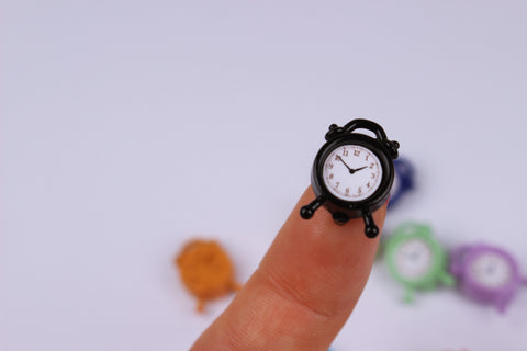 D039 Colorful Doll Miniature Desk Clock 1/6 1/12 Miniature Blythe Barbie PP FR