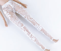 C005 White Lace Legging For Barbie Poppy Parker
