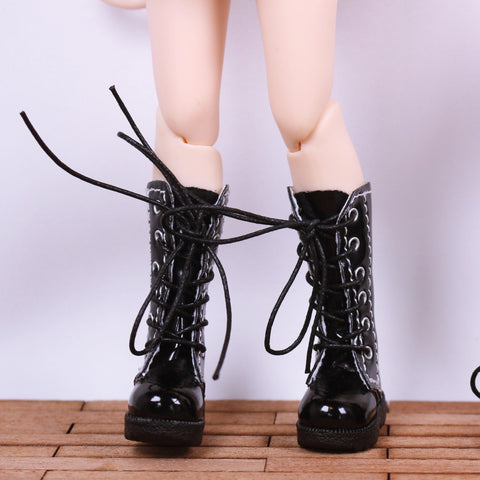 C008 Leather Doll Martens Boots Doll Shoes Fits Blythe Azone Dal