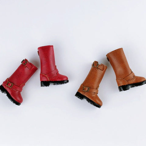 F015 Cool Leather Motorcycle Boots Doll Boots Doll Shoes For Blythe Poppy Parker