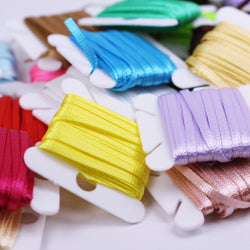 R011 Colorful 2mm Ribbon Sewing Craft Doll Clothes Making Sewing Supply 5 yards