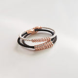Naomi Leather/Magnetic Bracelet