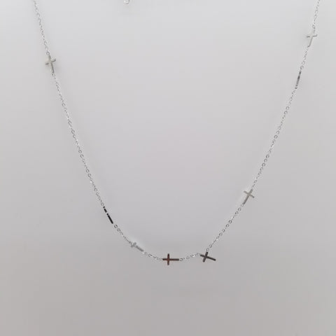 Abijah Cross Stainless Steel Necklace - artsyco