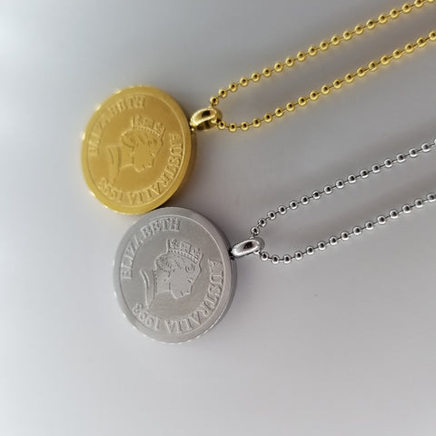 Aussie Coin Necklace - artsyco