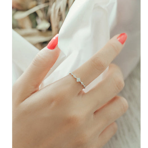 paula adjustable silver ring