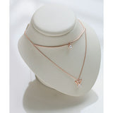 charity double layered necklace