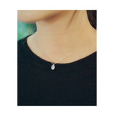 Tear Drop Silver Necklace