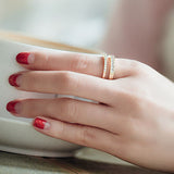 Double Layered Adjustable Ring