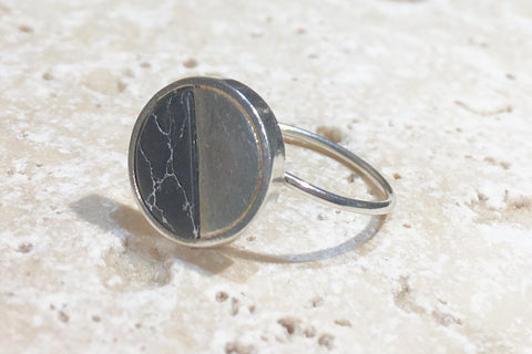 Howlite Silver Ring