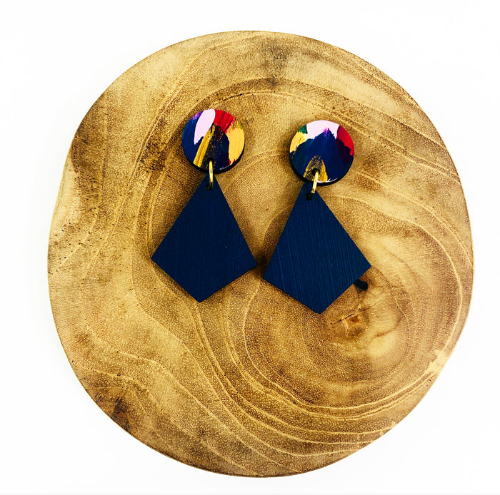 GLEBE Timor Drop Earrings (Navy)