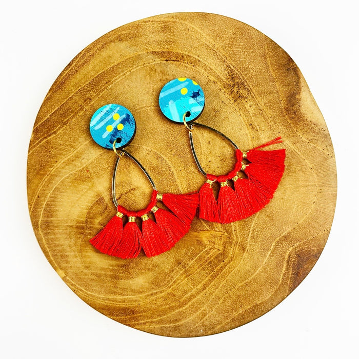 BENDALONG Shay Drop Earrings (Red)
