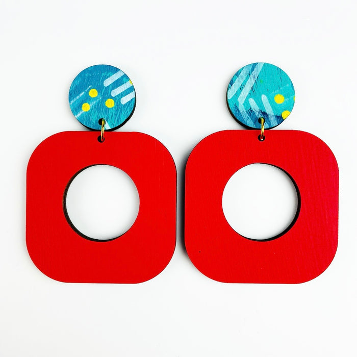 BENDALONG Bondi Drop Earrings (Red)