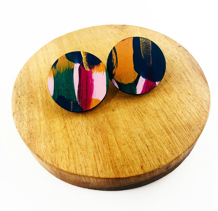 GLEBE 30mm Hand Painted Statement Studs