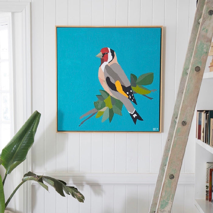 Goldfinch by Bee Twomey (770mm x 770mm) Framed