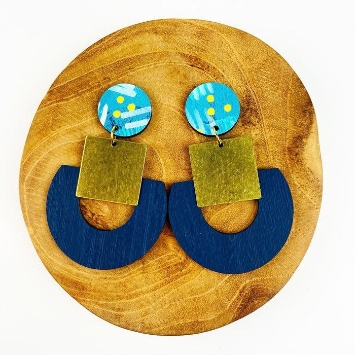 BENDALONG Calder Drop Earrings (Navy)