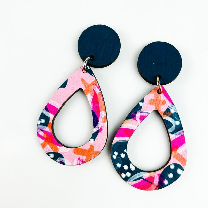 SANDON Rain Drop Earrings (Pattern)