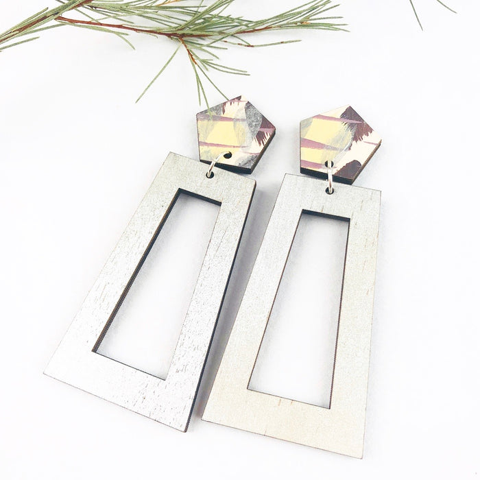 WINDSOR Cordi Drop Earrings (Silver Shimmer)