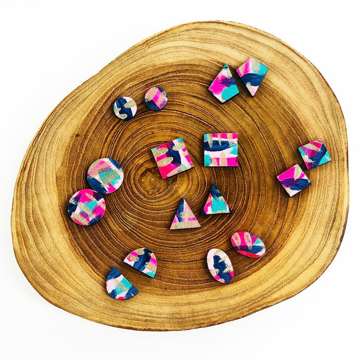 FITZROY Hand Painted Studs