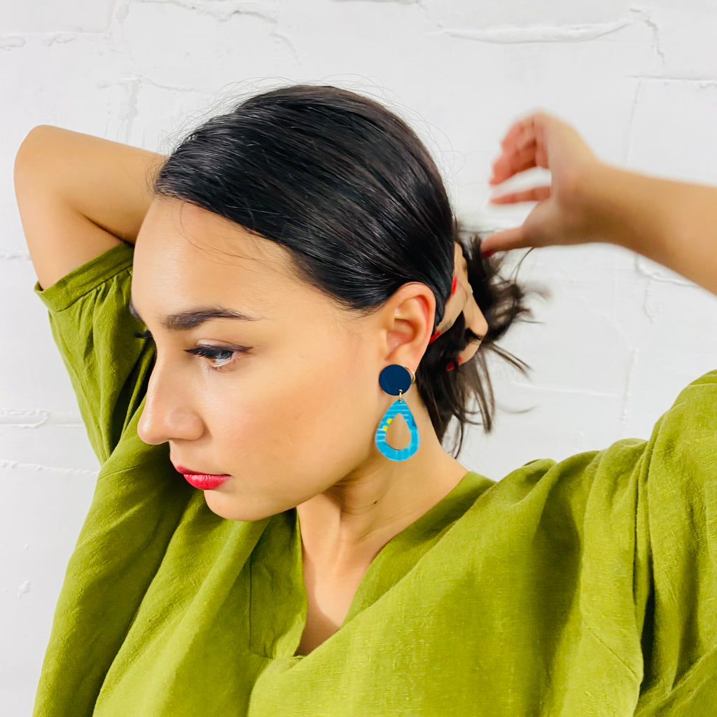 BENDALONG Rain Drop Earrings (Pattern)