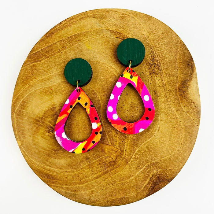 AIRLIE BEACH Rain Drop Earrings (Pattern)