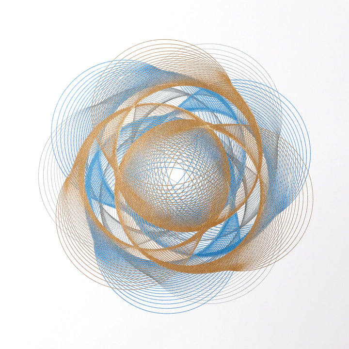 generative spirograph art print creative code algorithmic art computational design