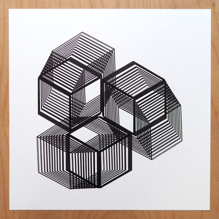 Drawing Platonic Solids - Cube and Crystal Generative Art