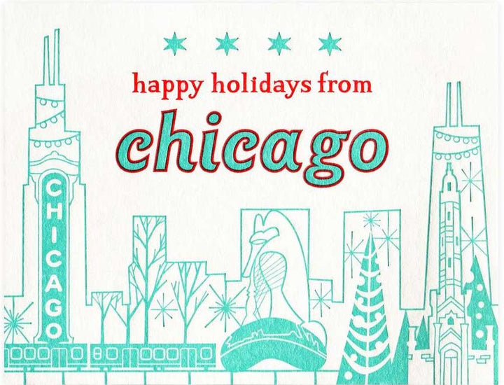 Chicago greeting card from Paper Parasol Press