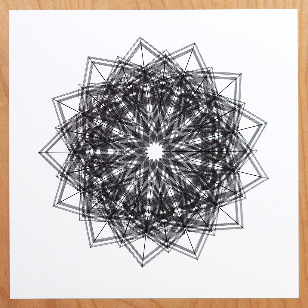 spirograph generative art created with an octahedron shape