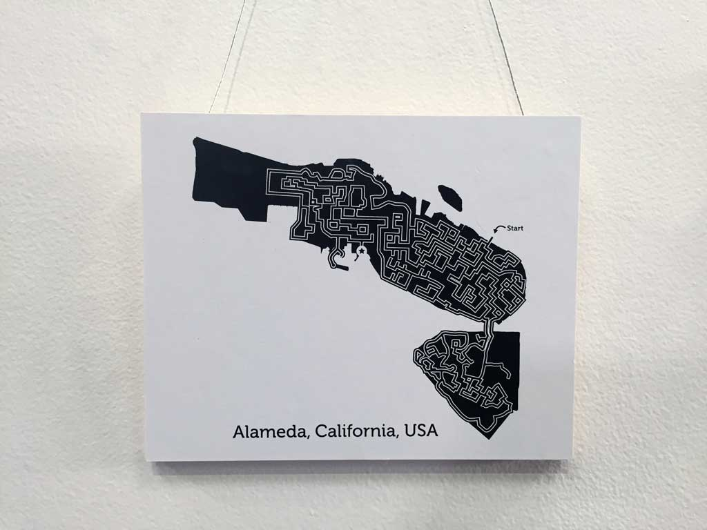 Alameda maze map by Dirt Alley Design