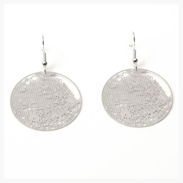 Aminimal Gridded San Francisco Earrings